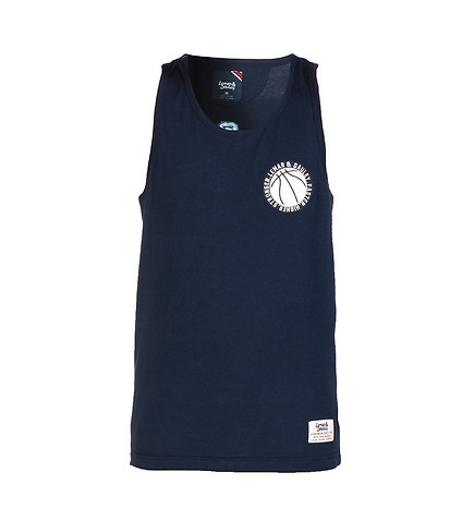 LEMAR AND DAULEY MENS JESUS SHUTTLEWORTH TANK TOP Navy
