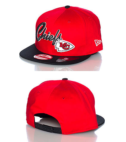 NEW ERA MENS KANSAS CITY CHIEFS NFL SNAPBACK CAP Red