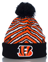 NEW ERA ZUBAZ POM CINCINNATI BENGALS KNIT HAT