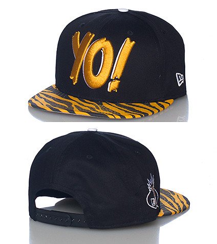 NEW ERA MENS YO! MTV RAPS SNAPBACK CAP Medium Orange