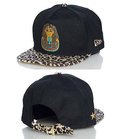 NEW ERA MENS PHARAOH FAUX FUR STRAPBACK JJ EXCLUSIVE Black