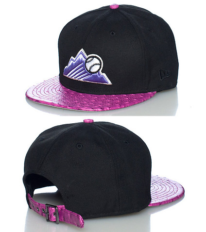 NEW ERA MENS COLORADO ROCKIES STRAPBACK JJ EXCLUSIVE Black