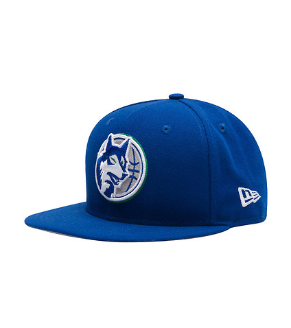 NEW ERA MENS MINNESOTA TIMBERWOLVES  SNAPBACK HAT Blue