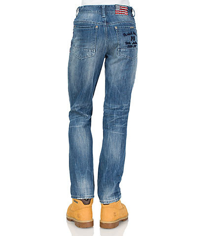 ESSENTIALS MENS COBURN ALL NATION PATCH JEAN Blue