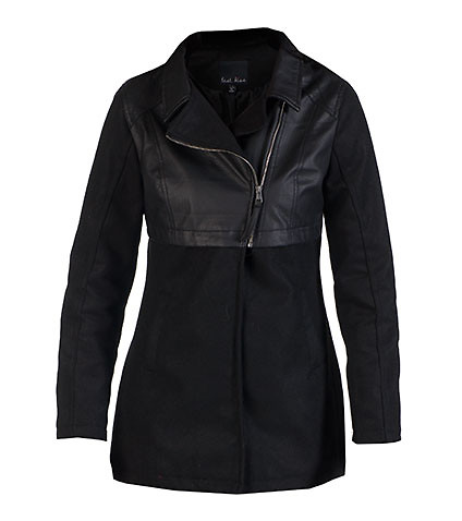 ESSENTIALS WOMENS WOOL JACKET WITH POLYURETHANE Black