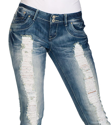 ESSENTIALS - Jeans - DESTRUCTION SKINNY JEAN