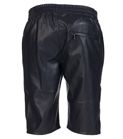 FORTE - Shorts - ELASTICIZED WAIST LEATHER SHORT