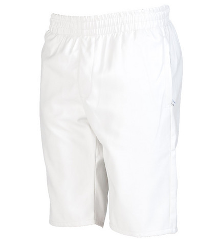 FORTE MENS ELASTICIZED WAIST LEATHER SHORT White