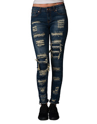 ESSENTIALS SLASHED STRETCH CUFF JEAN