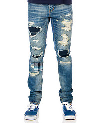 EMBELLISH CORNICHE PATCHWORK DISTRESSED JEANS