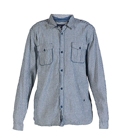 SCOTCH  &  SODA MENS STRIPED SHIRT Blue
