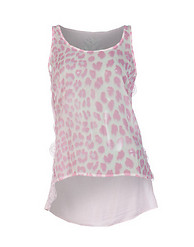 ESSENTIALS LEOPARD PRINT HI LO TANK TOP