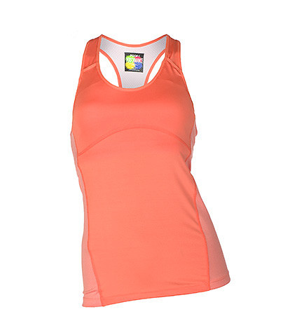 ESSENTIALS WOMENS RACER BACK PERFORMANCE TOP Medium Orange