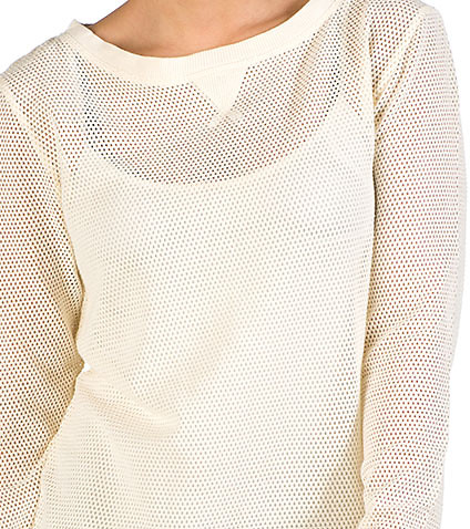 ESSENTIALS - Sweaters - BANDED SWEATER WITH APPLIQUE NECK