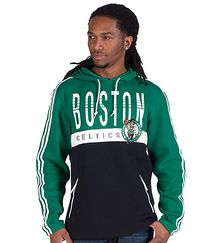 adidas - Hoodies - BOSTON CELTICS COURT SERIES PULLOVER