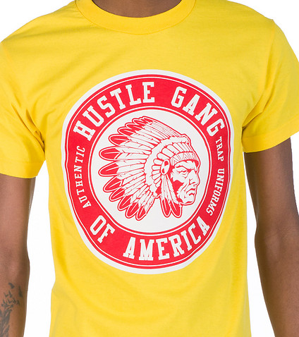 HUSTLE GANG - Tees and Polos - HG SHIELD TEE
