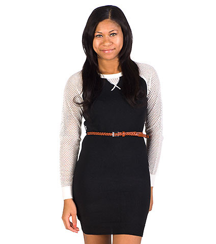 ESSENTIALS - Dresses - SWEATER BELTED DRESS