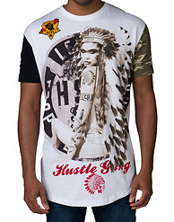 HUSTLE GANG INKED SQUAW KNIT TEE