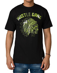 HUSTLE GANG GREEN CHIEF SS TEE