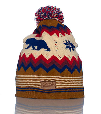 CHUCK MENS BEAR ISLE KNIT HAT Natural