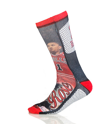 FOR BARE FEET - Socks - BULLS NBA DERRICK ROSE CREW SOCK