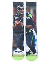 FOR BARE FEET RUSSELL WILSON JERSEY SOCKS