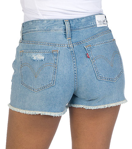 LEVIS WOMENS HIGH RISE SHORT Blue