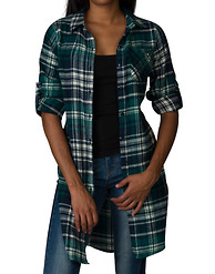 ESSENTIALS PLAID FLANNEL OVERSIZED SHIRT