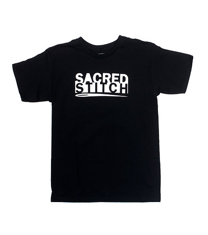 SACRED STITCH MENS LOGO TEE Black