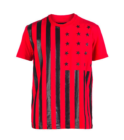 HUDSON OUTERWEAR MENS PATRIOT FLAG TEE Red