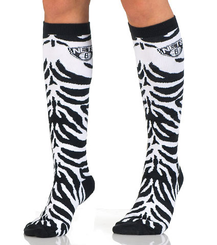 FOR BARE FEET - Socks - BROOKLYN NETS ZEBRA KNEE HIGH SOCK