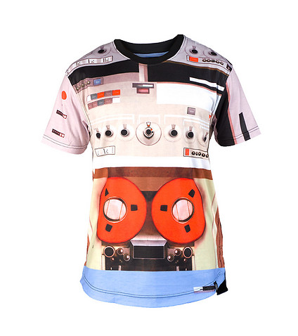 HUDSON OUTERWEAR MENS TAPE DECK TEE Multi-Color