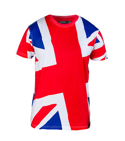 HUDSON OUTERWEAR MENS BRITAIN WORLD CUP PRIDE TEE Red