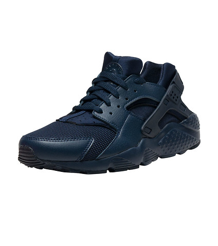nike huarache navy blue and black
