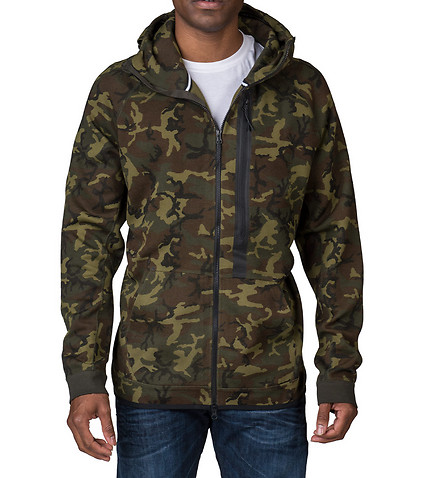 nike sportswear tech fleece full zip camo hoodie green. Black Bedroom Furniture Sets. Home Design Ideas