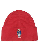 POLO CASHMERE BLEND POLO BEAR CUFF HAT