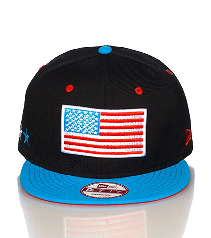 NEW ERA - Caps Snapback - USA FLAG SNAPBACK CAP JJ EXCLUSIVE