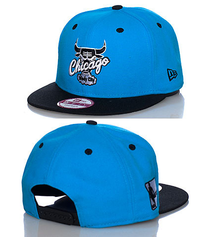 NEW ERA MENS CHICAGO BULLS SNAPBACK CAP JJ EXCLUSIVE Blue