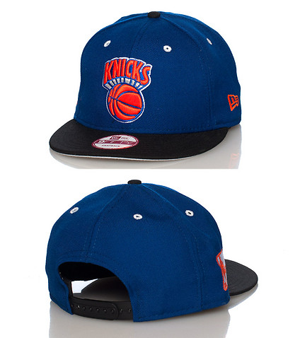 NEW ERA MENS NEW YORK KNICKS SNAPBACK JJ EXCLUSIVE Blue