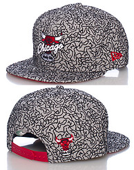 NEW ERA CHICAGO BULLS ELEPHANT PRINT SNAPBACK