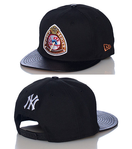 NEW ERA MENS YANKEES WORLD SERIES CAP JJ EXCLUSIVE Black