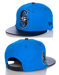 NEW ERA MARINERS LEATHER SNAPBACK JJ EXCLUSIVE