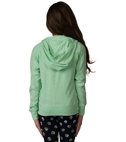 NIKE NIKE GIRLS GYM VINTAGE ZIP HOODIE - Medium Green | Jimmy Jazz ...