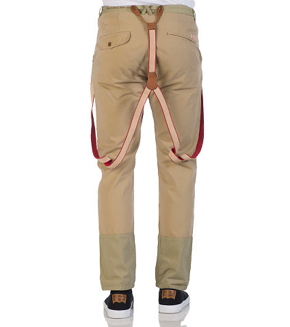 SCOTCH  &  SODA MENS CHINO WITH SUSPENDER Beige-Khaki