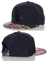 NEW ERA TAPESTRY VISOR NJ NETS STRAPBACK CAP
