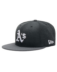 NEW ERA OAKLAND A'S HEATHER SNAPBACK HAT