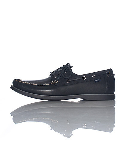POLO FOOTWEAR MENS BIENNE BOAT SHOE Black