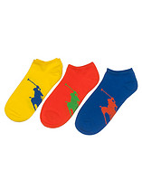 POLO 3 PACK BIG PLAYER QUARTER SOCK