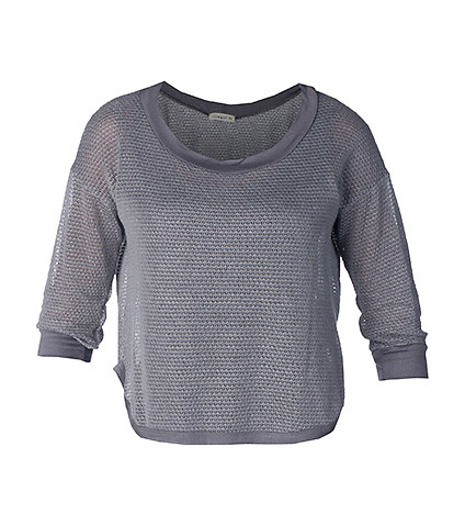 ESSENTIALS WOMENS ROUND NECK TOP Grey