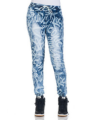 ESSENTIALS PRINTED DENIM JOGGER PANT